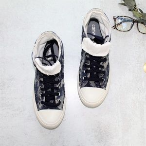 Converse Chuck Taylor Gray Blue Camouflage Hi Tops